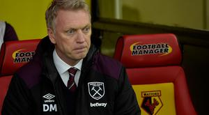David Moyes of West Ham United takes his seat prior to the Premier League match between Watford and West Ham United at Vicarage Road on November 19, 2017 in Watford, England. (Photo by Arfa Griffiths/West Ham United via Getty Images)
