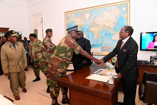 Zimbabwean President, Robert Mugabe, meets with Defence Forces Generals in Harare at State House