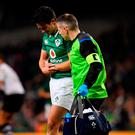 Carbery suffered a broken wrist arm in the 61st minute of Ireland's narrow win over Fiji