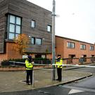 Gardaí at the scene of a shooting in Ballymun, Dublin. Picture: Gerry Mooney