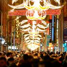 Thousands of people gather on Henry Street for the turning on of the Christmas lights. Picture: Gerry Mooney