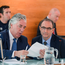 FAI Chief Executive John Delaney, left, and Republic of Ireland manager Martin ONeill