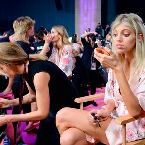 Devon Windsor backstage ahead of the Victoria's Secret Fashion Show at the Mercedes-Benz Arena in Shanghai, China. Aurore Marechal/PA Wire