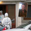 54-year-old Italian national, Bruno Rolandi (inset) was stabbed to death following an apparent domestic dispute at a house in the Midlands, gardai believe