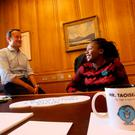 Joella Dhlamini spent the day with Leo Varadkar as part of World Children's Day