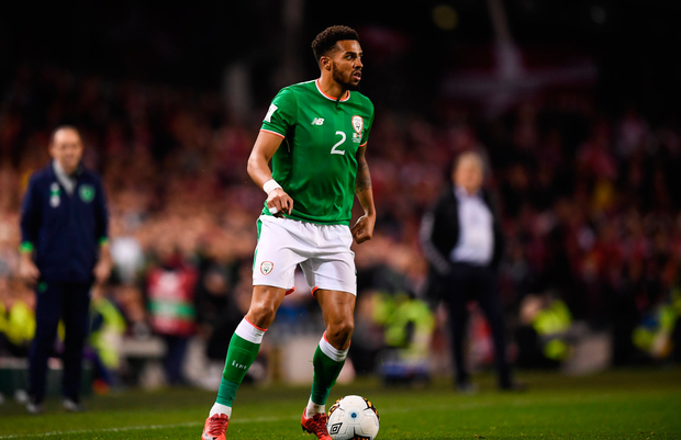 14 November 2017; Cyrus Christie of Republic of Ireland during the FIFA 2018 World Cup Qualifier Play-off 2nd leg match between Republic of Ireland and Denmark at Aviva Stadium in Dublin. Photo by Stephen McCarthy/Sportsfile