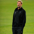 Liverpool manager Klopp during training. Photo: Reuters