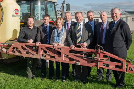 Pictured at the launch of the new Pesticide Advisor (Grassland) course were from (L to R): Kevin Cunningham, Teagasc; Tom O'Dwyer, Head of Dairy Knowledge Transfer, Teagasc; Sheila Macken, Niall Ryan, DAFM; Michael Creed TD, Minister for Agriculture, Food and the Marine; Ciaran Collins, Teagasc; Donal Coleman, DAFM and Professor Gerry Boyle, Teagasc Director. Photo O'Gorman Photography.