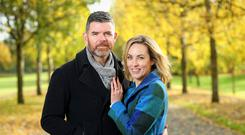 Kathryn Thomas with fiance Padraig McLoughlin. Photo: Marc O'Sullivan