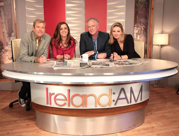 Sinead Desmond and Alan Hughes, Mark Cagney and Anna Daly (right)
