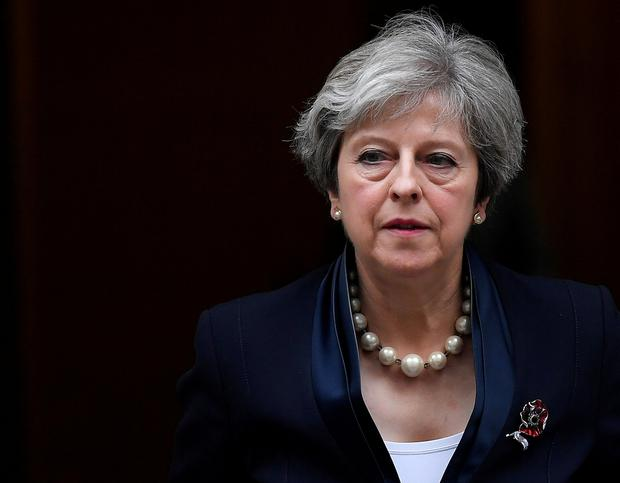 Britain's Prime Minister Theresa May leaves 10 Downing Street in London, November 1, 2017. REUTERS/Toby Melville /File Photo