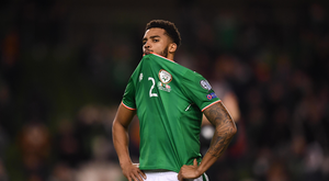 Cyrus Christie of Ireland following Denmark defeat