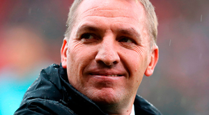 Celtic manager Brendan Rodgers. Pic: Jane Barlow/PA Wire