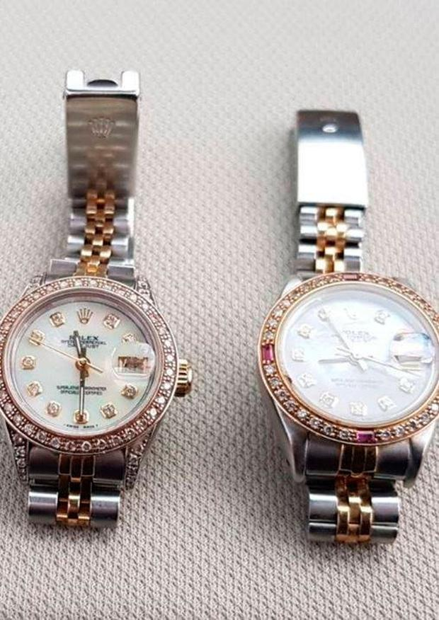 Rolex watches found during the raid
