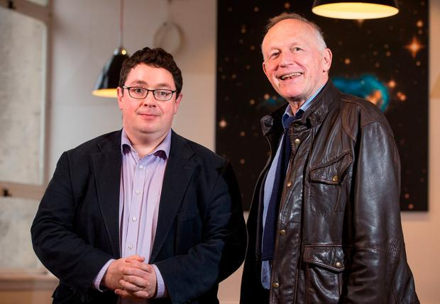 Prof John Cryan and Prof Ted Dinan from University College Cork, who have been researching gut bacteria for 14 years. Photo: APC Microbiome Institute