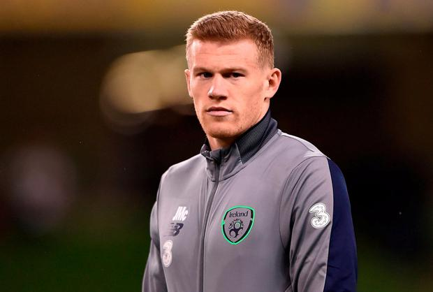 Teammate James McClean, who spoke out against the abuse. Photo: Seb Daly/Sportsfile