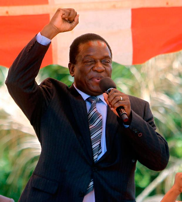 Zimbabwean vice President Emmerson Mnangagwa is widely expected to take over as the country's leader within 48 hours, following the resignation of Mugabe. Photo: AP
