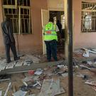 The scene at the mosque after a deadly attack by a suicide bomber, in Mubi, Adamawa State, Nigeria. Photo: AP