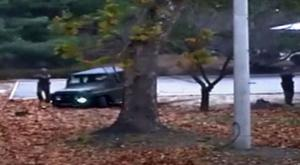 Dramatic footage shows North Korean soldier shot at as he flees to the South