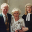 Theresa Lowe, flanked by her proud parents John and Marie Lowe in July 1997