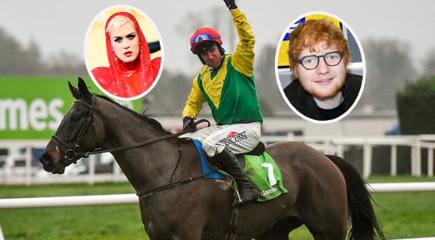 Robbie Power and Sizing John and (insets) Kary Perry and Ed Sheeran