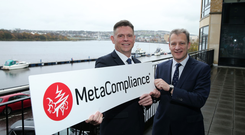 Robert O'Brien, MetaCompliance, and Jeremy Fitch, Invest NI