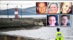 The pier at Buncrana where five members of the same family lost their lives