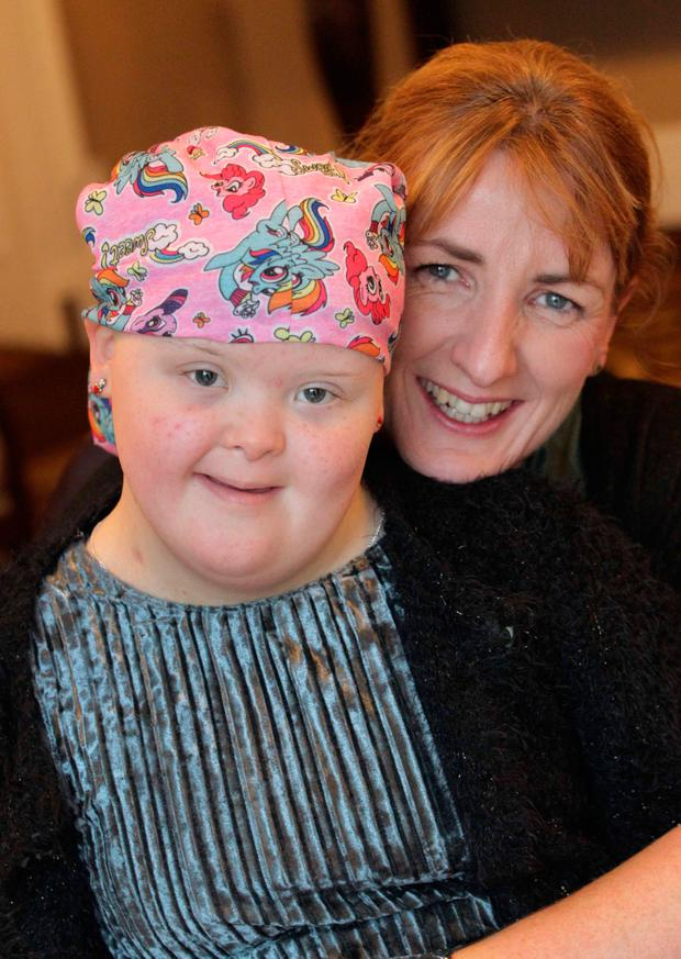 Leitrim Carer of the Year Mary Doherty and her daughter Niamh (12) Photo: Mark Stedman