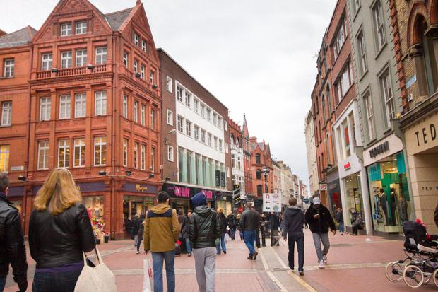 Dublin's Grafton Street carries 8,802 pedestrians per hour, which is just 5pc behind London's Regent Street