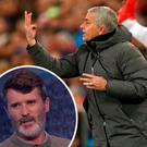 Jose Mourinho barks out the orders against Basel and (inset) Roy Keane