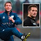 Ronan O'Gara and (inset) Richie McCaw