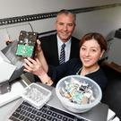 Pictured at the launch of the partnership in the Wisetek Mobile Data Destruction Unit were Elizabeth O'Reilly, Environmental Compliance Manager at WEEE Ireland with Sean Sheehan, CEO of Wisetek