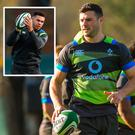Robbie Henshaw and (inset) Adam Byrne