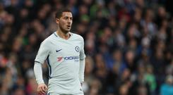 Eden Hazard of Chelsea during the Premier League match between West Bromwich Albion and Chelsea at The Hawthorns on November 18, 2017 in West Bromwich, England. (Photo by Matthew Ashton - AMA/West Bromwich Albion FC via Getty Images)