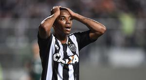 Robinho #7 of Atletico MG reacts during a match between Atletico MG and Palmeiras as part of Brasileirao Series A 2016 at Independencia stadium on November 17, 2016 in Belo Horizonte, Brazil. (Photo by Pedro Vilela/Getty Images)