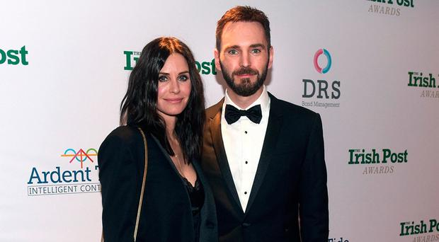 The Irish Post Gala Dinner and Awards 2017, Grosvenor House hotel, London, 23rd November 2017. Courtney Cox and Johnny McDaid
