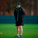 Joe Schmidt keeping a watchful eye on training at Carton House yesterday. Photo: Sportsfile
