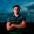 Jacob Stockdale poses for a portrait picture at Carton House after being named in the Ireland team yesterday. Photo: Sportsfile
