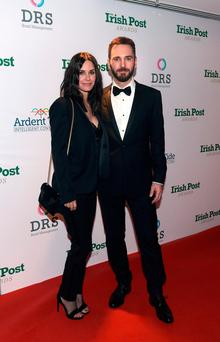 Courtney Cox and Johnny McDaid at the 'Irish Post' Gala Dinner and Awards 2017 in London