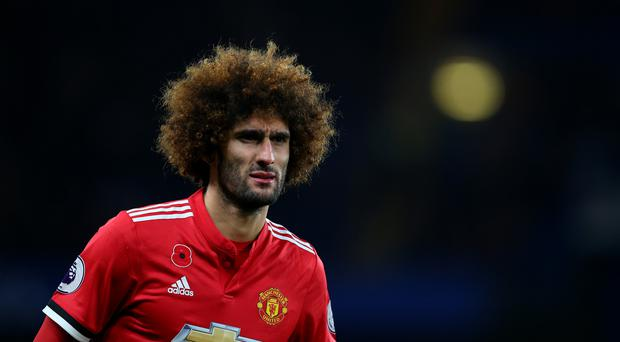 Marouane Fellaini of Manchester United during the Premier League match between Chelsea and Manchester United at Stamford Bridge on November 5, 2017 in London, England. (Photo by Catherine Ivill - AMA/Getty Images)