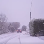 Snow falling in Mayo this morning Credit: Midwest Radio video