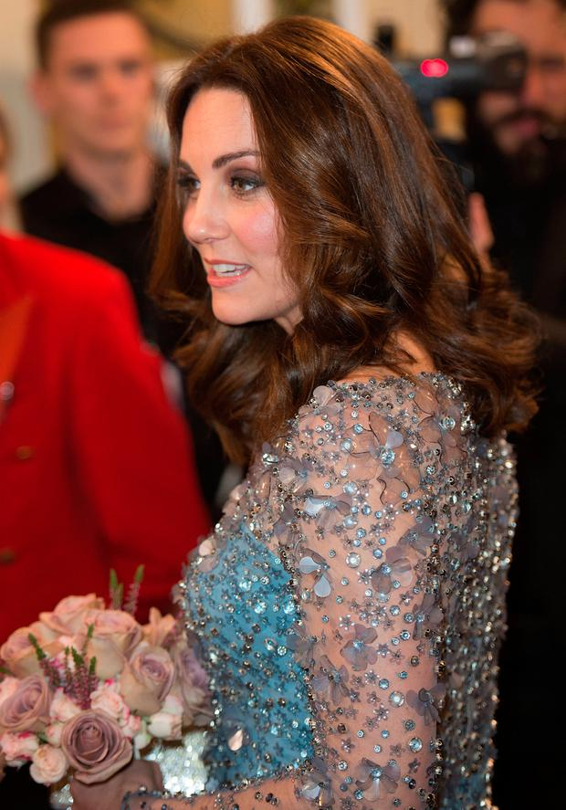 Britain's Catherine, Duchess of Cambridge, attends the Royal Variety Performance at the Palladium Theatre, in London, Britain November 24, 2017. REUTERS/Eddie Mulholland/Pool
