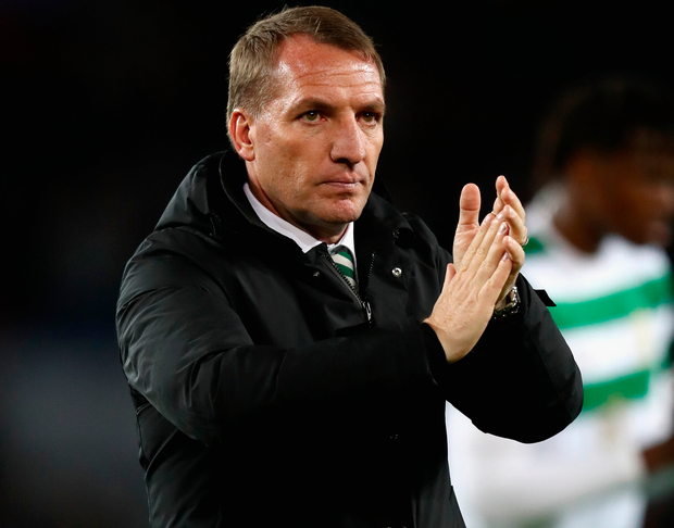 Brendan Rodgers: 'Players gave everything' in their 7-1 defeat to Paris St Germain. Photo: Getty Images