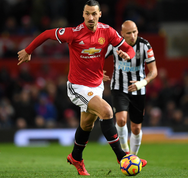 While Zlatan Ibrahimovic (pictured) was recovering from injury, Romelu Lukaku tasted the responsibility of being Manchester United's main man. Photo: Getty Images