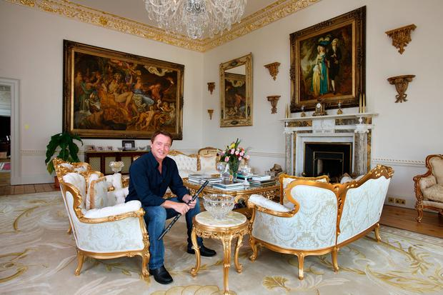 Michael Flatley in the drawing room of his home at Castlehyde, Co Cork, in 2010 Photo: Tony Gavin