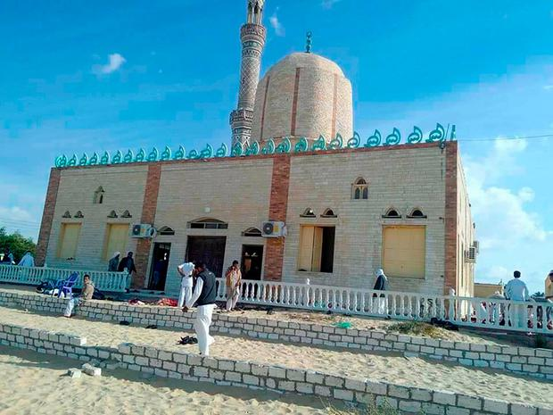The Rawda mosque, the target for the gun and bombing attack which left at least 235 dead. Photo: Getty Images