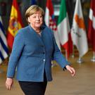 Saved: Angela Merkel. Photo: Reuters