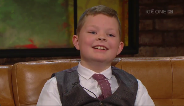 Jack on how his brother James makes him smile. Photo: RTE