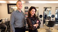 Pat and Annmarie Byrne, proprietors of The Salon in Barnhall, Lexlip. Photo: Tony Gavin