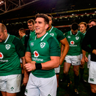 Ian Keatley of Ireland following the Guinness Series International match between Ireland and Argentina at the Aviva Stadium in Dublin